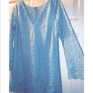 Charlotte Russe blue lace long sleeve dress